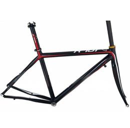 2017 marcos de carreras Racing marco bici de la aleación de aluminio marco de la bici del camino con carbono Tenedor con la pintura y la calcomanía marcos de carreras Rebaja