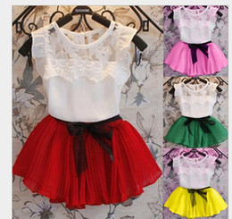 Free Shipping Baby Girls Clothes Children Suit For Toddler Girl casual Cotton Tshirts + Skirt Kids Clothes Sets new