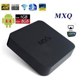 Wholesale MXQ Android TV Box Quad Core Amlogic S805 GB GB KODI Fully Loaded Smart Media Player Android H MX MXQ DLNA OTT IPTV Mini PC