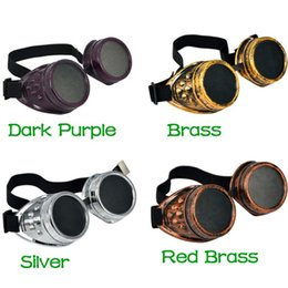 Wholesale Hot New Men Women Welding Goggles Gothic Steampunk Cosplay Antique Spikes Vintage Victorian Glasses EyewearCheap