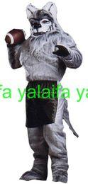 Скидка футбол одежда Высокое качество EVA Материал Шлем футбол Оборотень костюмы талисмана ходьбе мультфильм одежды на заказ Размер взрослых
