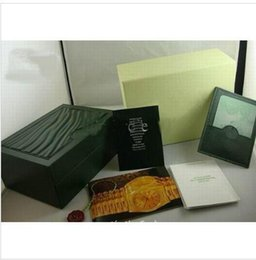 Wholesale Luxury dark freen Watch Box Gift case for rolex watches booklet card s and papers in english hn