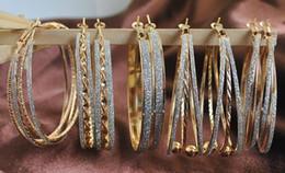 Simple Big hoop metal Earrings For women 18k gold plated earing European & American style Alloy circle huggie Earings bulk earrings (E0112)