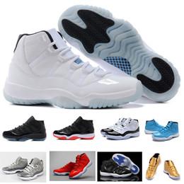 2017 chaussures de sport pas cher Vente en gros (11) XI Legend Bleu Basket-ball Chaussures De Bonne Qualité Hommes Chaussures De Sport Femmes Trainers Athlétique Bottes Rétro 11 XI Sneakers Pas Cher chaussures de sport pas cher ventes