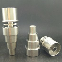 Universal E Dab Nail 6 in 1 Domeless Titanium nail 10 14 18mm Female Dnail Dab 16 20mm Heating Coil
