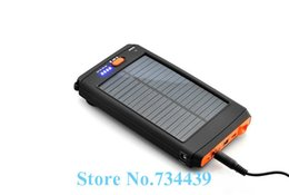 Wholesale 11200mAh Portable Solar Panel Energy Battery Charger For Laptop Tablet PC Mobile phone with flashlight