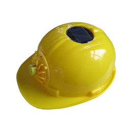 Wholesale Classic Solar energy Safety Helmet Hard Ventilate Hat Cap Cooling Cool Fan Delightful Cheap And New Hot Selling