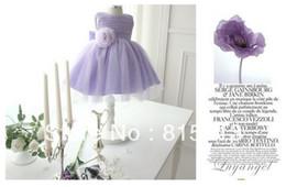 Wholesale international best selling girl dress children s clothing children dress purple veil