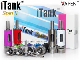 Wholesale rebuildable clearomizer dual coils atomizer i tank mm ml fit vapen spin iii visin spinner battery e cigarette cartomizer