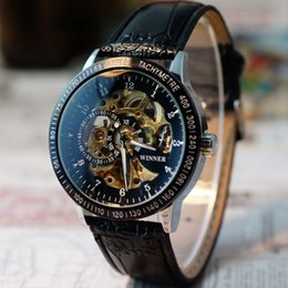 Wholesale Attractive Men Luxury top quality Hollow Skeleton Automatic Mechanical Stainless Steel Wrist Watch JY20