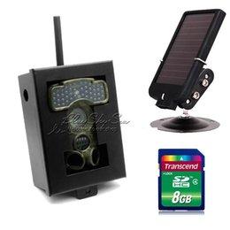 Free Shipping!8G Ltl Acorn 6310WMG MMS GPRS Trail Game Hunting Camera+7V Solar Panel+Metal Box