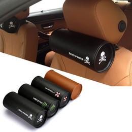 2pcs / lot ergonómico reposacabezas de cuero RS M FR TRD sombrilla cráneo asientos de coche amortiguador asiento de coche cuello almohadilla cintura cojines Accesorios interiores desde cojines reposacabezas de cuero proveedores