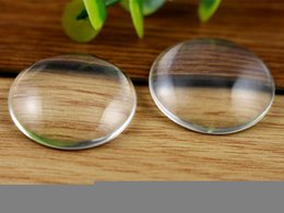 Wholesale 40MM Round Flat Back clear Crystal glass Cabochon Top quality glass titel sold