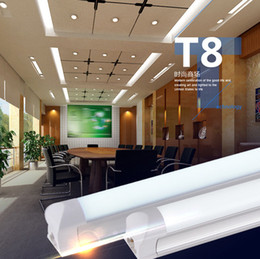 Integrated 2 3 4 ft 20W Led T8 Tube Light SMD2835 High Bright Tubes Frosted Transparent Cover AC 85-265V Led Fluorescent Bulb Lighting