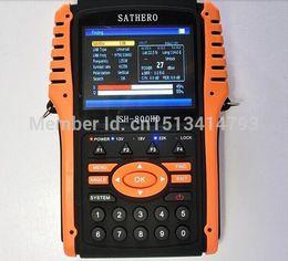 Salida Sathero SH-800HD DVB-S2 Satélite Digital Buscador de medidor USB2.0 HDMI Satfinder HD con analizador de espectro shiping libre desde buscador hd sathero proveedores