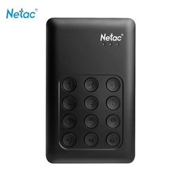Wholesale Netac K390 USB External Hard Drive GB TB TB Keypad Lock HDD AES bit Hardware Encryption Externo Disco HD Disk