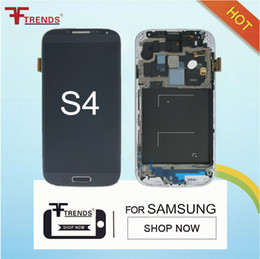 Wholesale Price For Samsung Galaxy S4 i9500 I337 M919 I545 I9505 L720 R970 LCD Assembly Display Screen Replacement with Frame