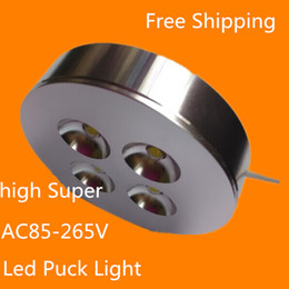 Wholesale 4pcs AC85 V X2W W Dimmable Warm Cold White LED Puck light led puck lamp led furniture light