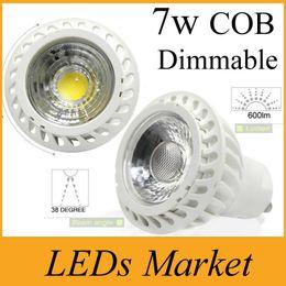 High Power Cob Led Lamp 7W Dimmable GU10 MR16 Led spot Light Spotlight led bulb downlight lighting warm cold white AC90-260v or 12v free DHL