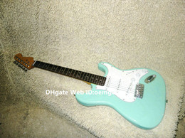 New Arrival Light Blue ST Electric Guitar Rosewood Fingerboard High Quality Wholesale Guitars