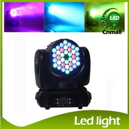 Wholesale 2015 New LED Stage Light in1 RGBW W LED Moving Head Light Beam Wash Light American DJ Light DMX IN OUT Stage Lighting
