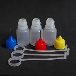 Hot Empty 5ml bottle Plastic Bottles PE Needle Bottle Plastic Dropper Bottles with Metal Needle Tip Bottles DHL e liquid bottles