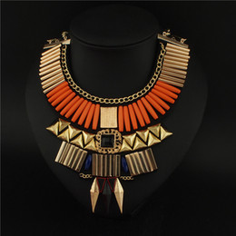 Pendants Geometry Collar Necklace Statement Chunky Alloy Necklaces Spike Exaggerated Unique Women Evening Dress Jewelry #2939