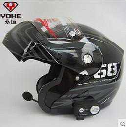 Wholesale Venta al por mayor Eterna YH cascos bluetooth de alta gama de música estéreo respuesta la cara abierta del invierno del casco de la motocicleta de teléfono