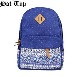 New Ladies Girls Blue Canvas Vintage Backpack Rucksack College Shoulder School Bag, Fashion Design Enough Pockets Cause Backpack