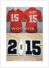 Wholesale Factory Outlet Womens NCAA Ohio State Buckeyes Ezekiel Elliott Red College Football Jerseys Size S XL bcs