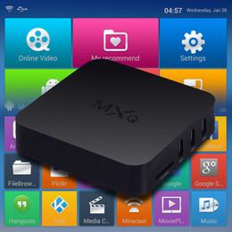 Wholesale 2016 MXQ Android TV Box Quad Core Amlogic S805 KODI Fully Loaded Smart Media Player Android MX MXQ OTT TV BOX