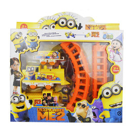 Wholesale Toy Train Toys For Children Wooden Toys Building Bricks Hot Cute Movie Character Minions Figures Electric Train Track Kids Children Baby Toy
