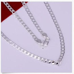 Popular Hot Sale New Gentle Men FashionTrendy Nice 925 Sterling Silver Link Chain Charming Necklace