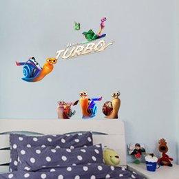 Wholesale Turbo Adesivo De Parede Enfeites Para A Casa Cartoon Snail Sticker On The Wall DIY Pegatinas Bedroom Wallpaper