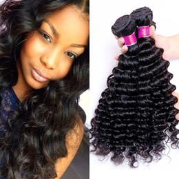 Brazilian Virgin Human Hair Deep Curly 3pcs Hair Weft 100% Unprocessed Brazilian Peruvian Malaysian Deep Curly Wave Cheap Brazilian Hair