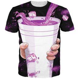 Women Men Purple Drank T-Shirt vibrant 3d t shirt hip-hop dirty sprite tee shirts summer casual tshirt femme homem camiseta