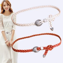 Wholesale Actual Images Women belt Hand woven belt Buckle belt Hot sale