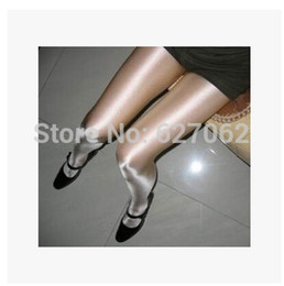 Wholesale-Shine baby Beyonce with costumes bar thickened pantyhose white black flesh color glossy reflective socks