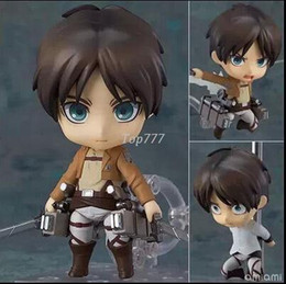Wholesale Nendoroid Advance on the giant Jaeger Eren Yeager Q Version PVC Action Figure Model Collection Toy Box packaging