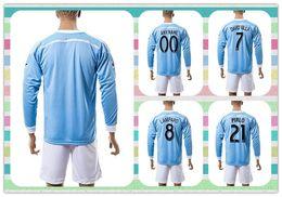 Wholesale New Product Uniforms Kit Long Sleeve New York DAVID VILLA LAMPARD Soccer Jerseys Football Blue City Jersey