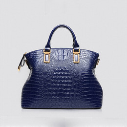 Wholesale 2016 Famous brand Genuine leather handbag Crocodile women shoulder bag vintage Ladies Large Tote bolsas femininas Crossbody bags