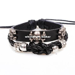 Wholesale Original design punk personality skull bracelet beaded bracelet Shamballa jewelry hot sale manufacturers supply