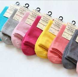 Wholesale Fashion Hot Sale Spring and autumn winter Women Solid Candy pure Color Short sports casual Sock Fit For Yards Cute socks