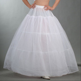 Wholesale Crinoline Skirts For Sale - 2016 Hot Sale 3 Hoop Ball Gown Bone Full Crinoline Petticoats For Wedding Dress Wedding Skirt Accessories Slip QC-01
