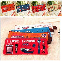 Best price Retro London Oxford Cloth School Pen Pencil BAG Case Pouch Purse BAG Wallet Coin Pouch BAG Case 100pcs
