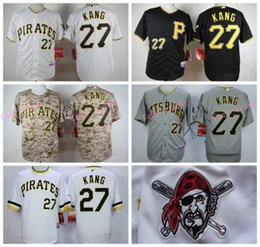 Wholesale Jung Ho Kang Jersey Stitched Pittsburgh Pirates Jersey White Grey Black Camo