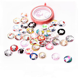 20PCS Lot kitty New Paint Glass Floating Charms Floating Locket Charms Mixed Styles Fit Floating Lockets&Floating Locket Bracelet FC126