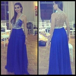 Wholesale Best Sale Promotional Shoulder Beaded See Through Sexy Long Prom Dresses