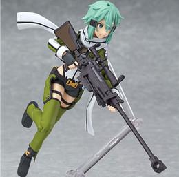 Wholesale Hot Anime sword art online Sinon Asada shino sao PVC Action Figure Collection Model Toys Doll cm