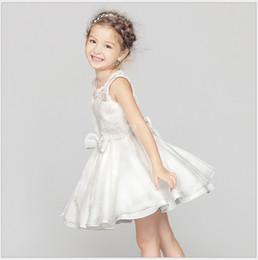 Girls Princess Tutu Dress 2018 Summer High Quality Kids Lace Gauze Dress Baby Girl Party Dresses Children Wedding Dress 100-160cm Retail